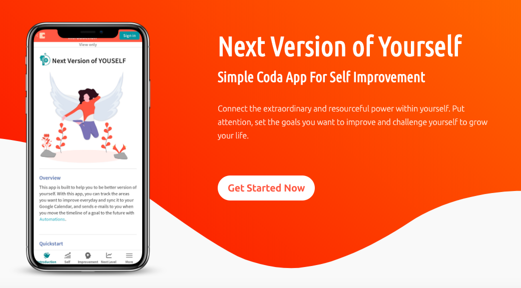 Be The Next Version of Yourself - NO CODE App For Product Hunt Maker Festival 2